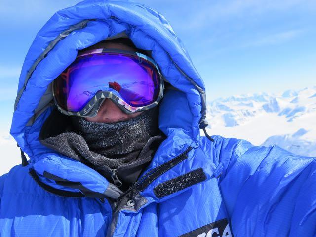 Photo taken on the summit of Gunnbjørn, in the Artic