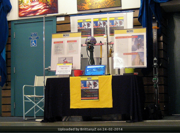 _PR Table at the VIMFF – where the 800th   active member account was registered.