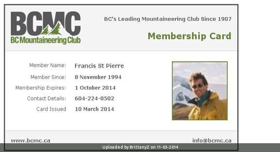 _Membership Card example