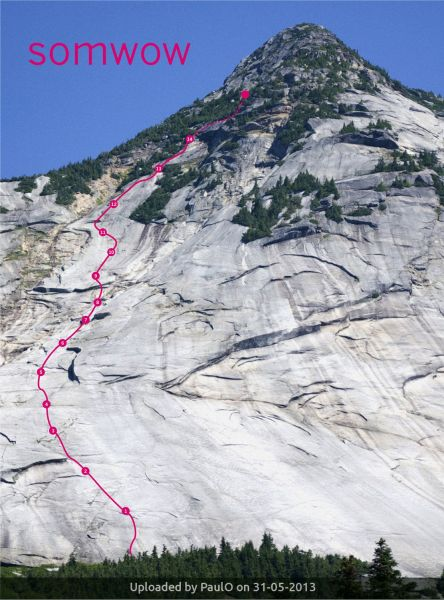 _SOMWOW route on Yak Peak