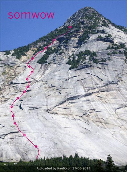 _SOMWOW route on Yak Peak