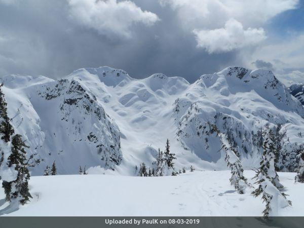 _Martin Peak (on right) north side