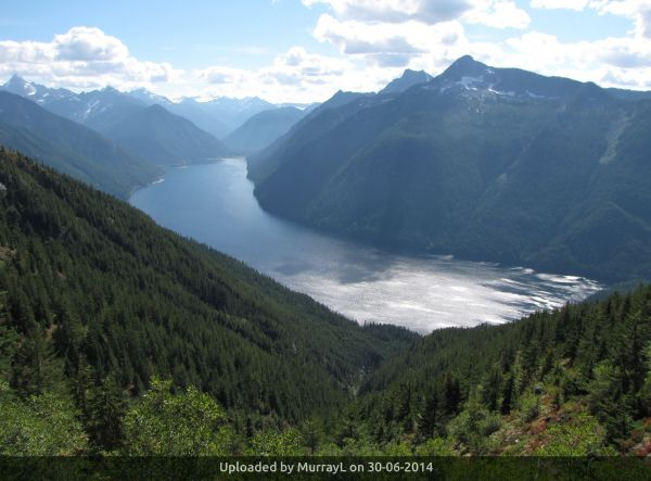 _View south to Chilliwack Lake and North Cascades