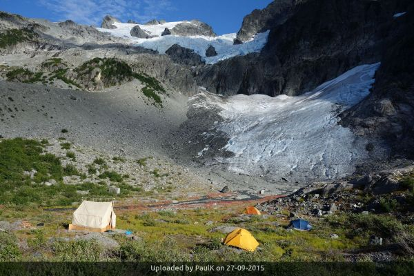 _Moraine Camp below the north face of Ossa Mountain