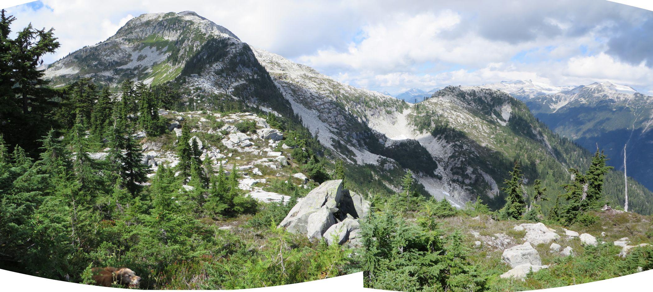 Sigurd Peak from the east ridge.