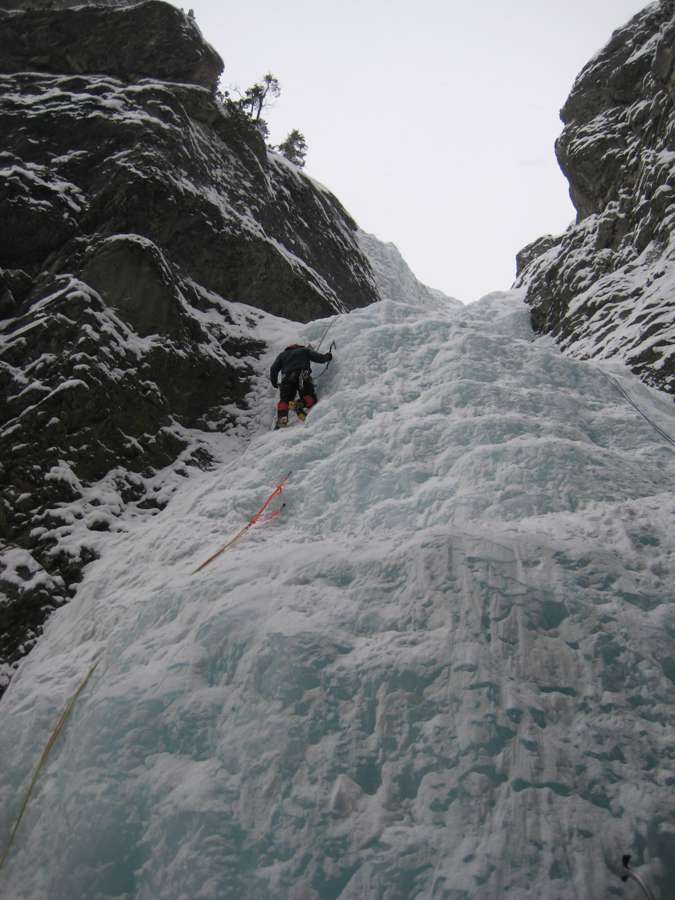 image of Paul Olynek climbing near Canmore