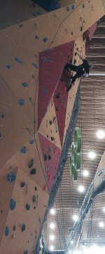 Indoor Climbing at the Richmond Oval